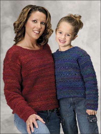 Cuddly, Classy Mom & Daughter Sweatshirts