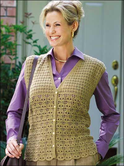 Leaf Lace Vest