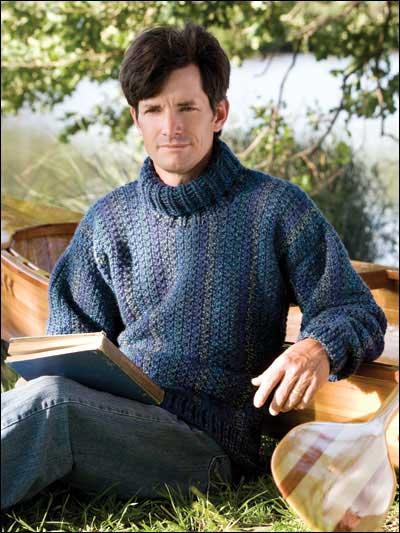 man's crochet sweater pattern