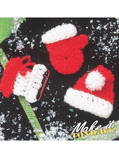 Christmas crochet pins