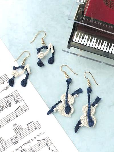 Musical Crochet earrings