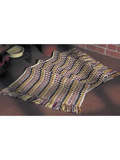 Sunny Area Rug Free Crochet Pattern