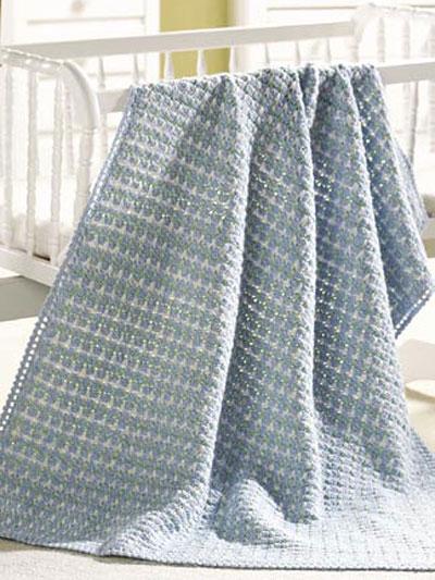 Crochet Afghan Patterns Baby Blankets : Crochet Afghans - Crochet Baby Blanket Patterns - Fleur-de ...