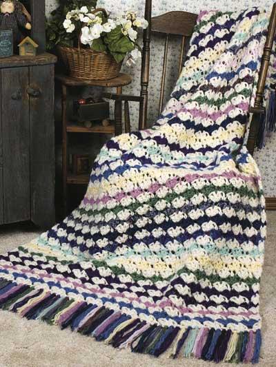 Free Crochet Pattern Q Hook : Assorted Crochet Afghan Patterns - Jiffy Shells