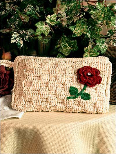 Basket Weave Crochet Patterns Free : Crochet purse patterns basket weave handbag