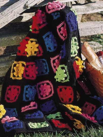 Free Crochet Pattern Scrap Afghan : Assorted Crochet Afghan Patterns - Fiesta Scrap Afghan