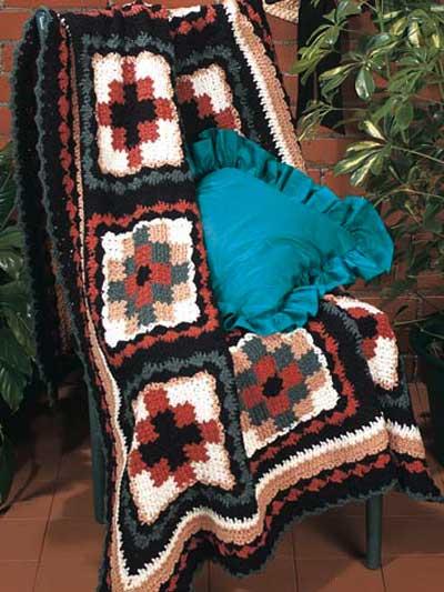 Crochet Patterns Navajo Afghan : Navajo Quilt -- Free Crochet Afghan Pattern