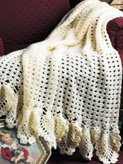 Free Crochet Pattern Lace Afghan Dancox For
