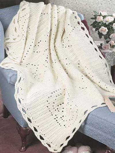 Miscellaneous Crochet - Filet Crochet Patterns - Filet Afghan