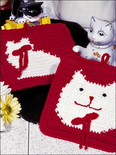 Free Crochet Pattern Christmas Potholder : Crochet for the Home - Crochet Potholder Patterns - Cute ...