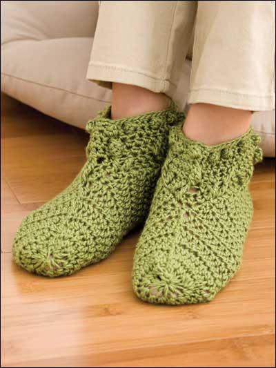 Slipper Socks Crochet Pattern Snocure
