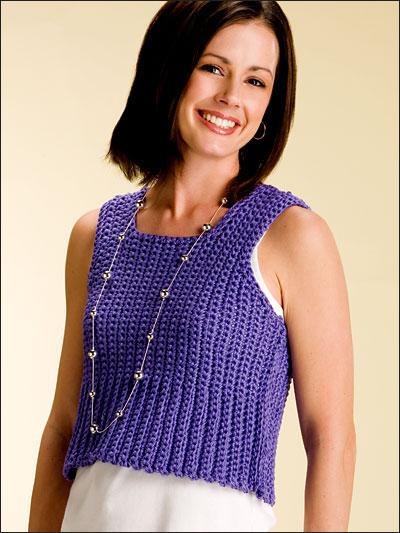 Free Crochet Pattern For Baby Tank Top : Crochet Clothes - Crochet Sweater & Top Patterns - Short ...