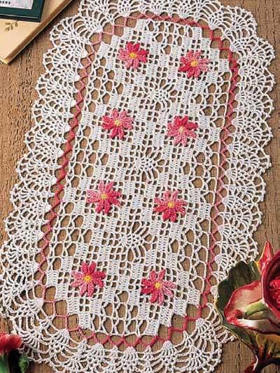 Crochet Patterns Intermediate : Crochet Doilies - Pineapple Doily Crochet Patterns - Petite Pineapples