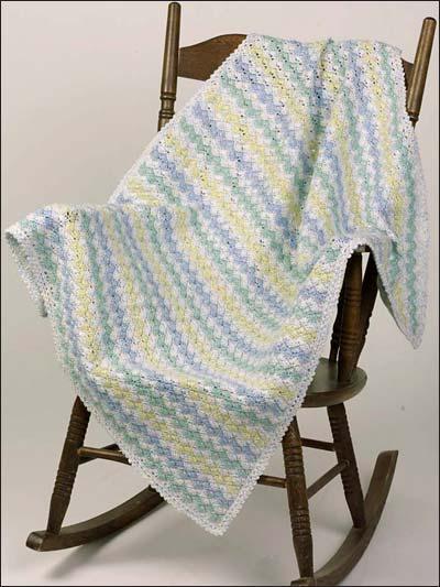 Zig Zag Crochet Baby Blanket Pattern Free : Crochet Afghans - Crochet Baby Blanket Patterns - Zigzag ...