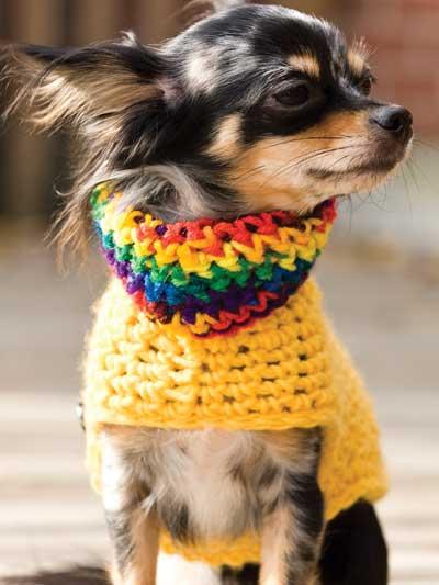 Crochet Dog Sweater Pattern Chihuahua : Craftdrawer Crafts: Free Crochet Dog Sweater Pattern ...