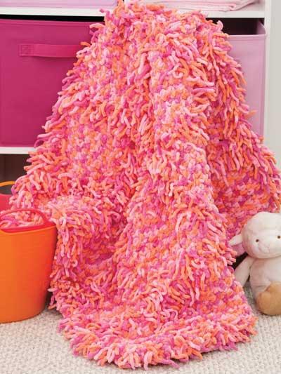 Crochet Afghan Patterns With Super Bulky Yarn : Crochet Blanket Patterns - Loop-d-Loop Blankie