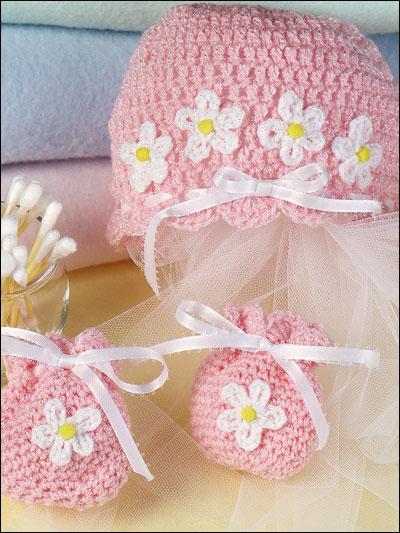 Baby's Hat & Mitten Set