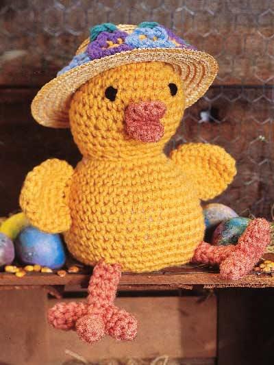 Free Crochet Pattern For Easter Bonnet : Crochet for Babies & Children - Easter Bonnet Chick