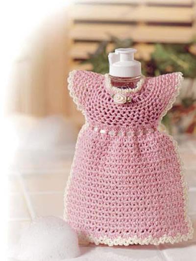 Free Vintage Kitchen Crochet Patterns : Crochet for the Home - Kitchen Crochet Patterns - Pink ...