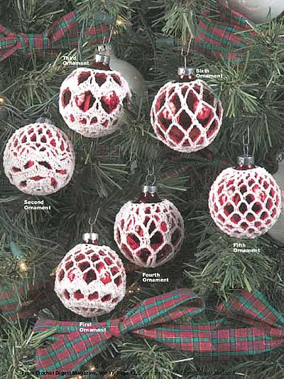 Free Crochet Thread Christmas Ornament Patterns : Winter Crochet Patterns - Elegant Ornaments